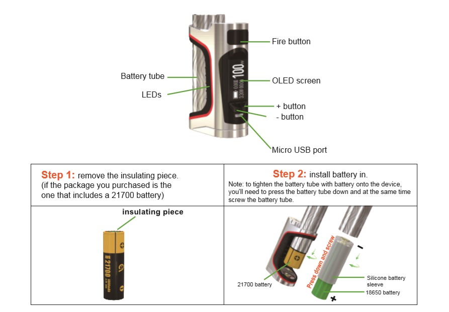 Eleaf istick Pico S mod instruction