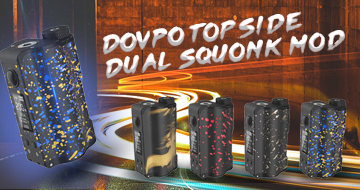 DOVPO Topside Dual 200W Squonk Mod New Colors On Sale